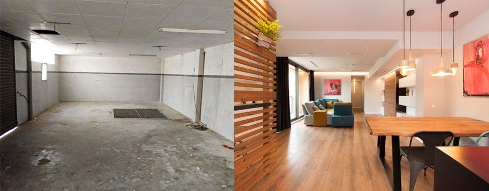 Transformación de local en vivienda